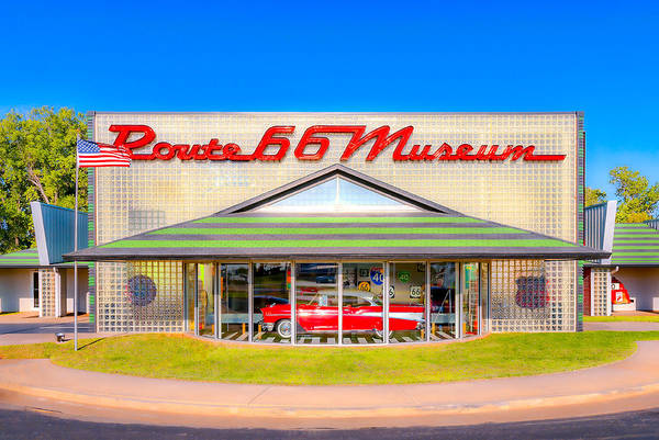 Photograph - Route 66 Museum by Lou  Novick