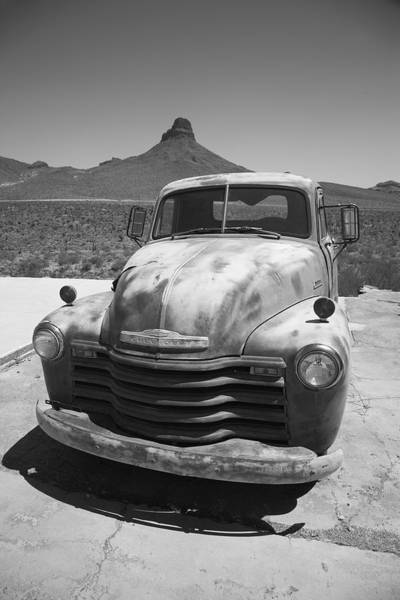 Photograph - Route 66 - Old Chevy Pickup by Frank Romeo