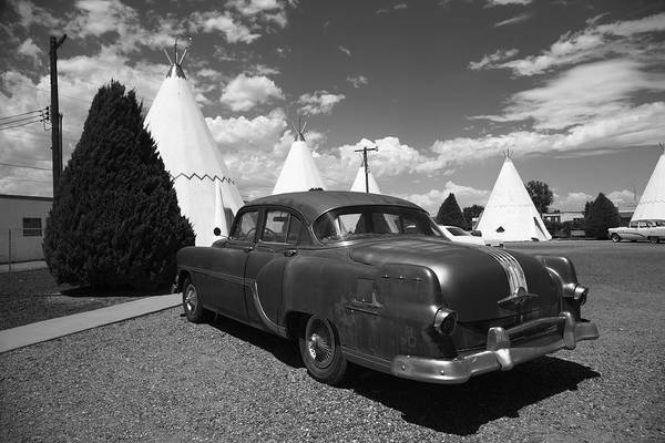Photograph - Route 66 Wigwam Motel And Classic Car 5 by Frank Romeo