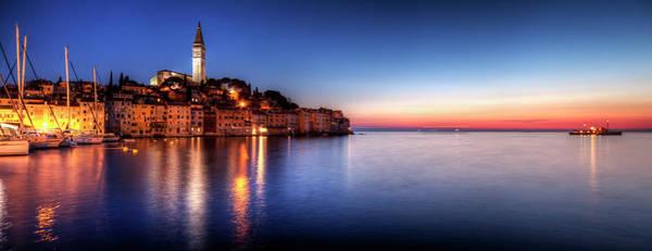 Wall Art - Photograph - Rovinj Blue Hour Sunset  Istria, Croatia by Copyright Nielskristian Photography