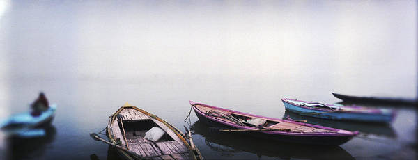 Peacefulness Photograph - Row Boats In A River, Ganges River by Panoramic Images