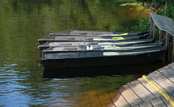 Photograph - Row Boats On Water by Dan Sproul