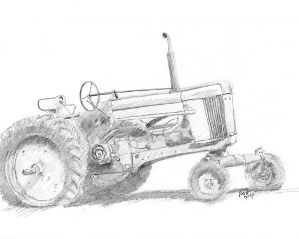 Drawing - Row Crop Johnny by David King
