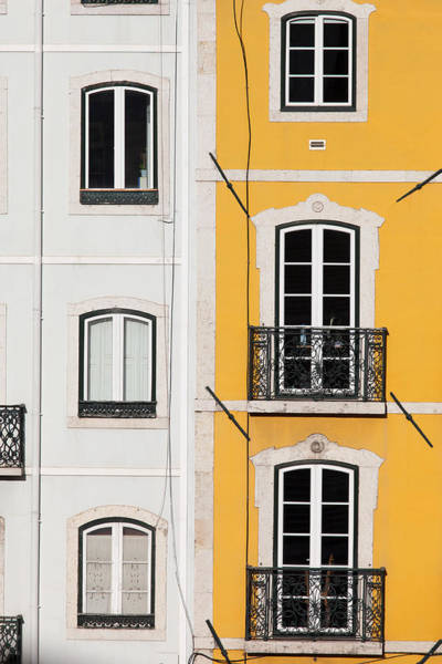 Tenement Photograph - Row Houses With White And Yellow Facades by Artur Bogacki