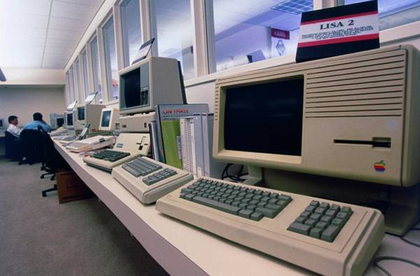 Silicon Valley Wall Art - Photograph - Row Of Assorted Historical Apple Computers by Peter Menzel/science Photo Library