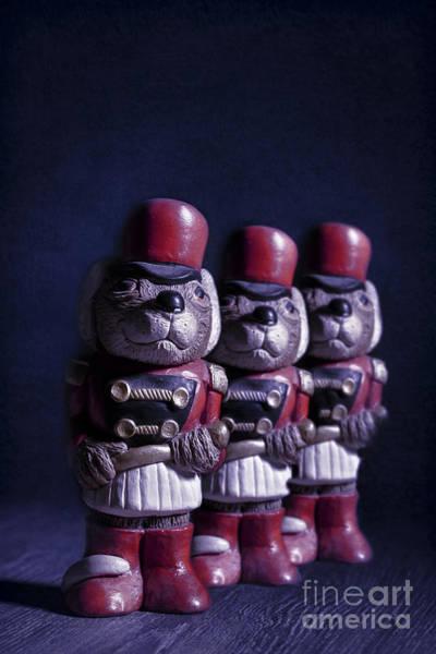 Wall Art - Photograph - Row Of Three Ceramic Mice by Amanda Elwell