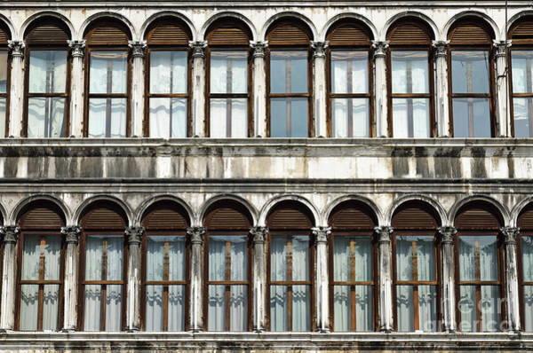 Wall Art - Photograph - Row Of Windows by Sami Sarkis