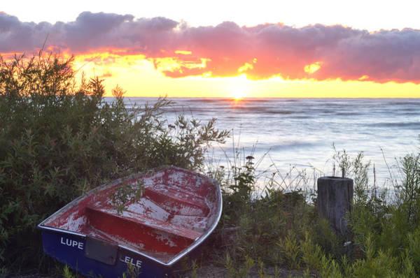 Rowboat At Sunrise Art Print