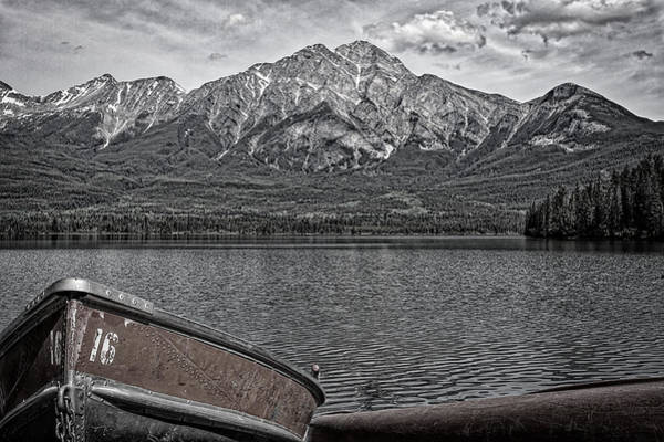 Photograph - Rowboats At Pyramid Lake - Black And White by Stuart Litoff