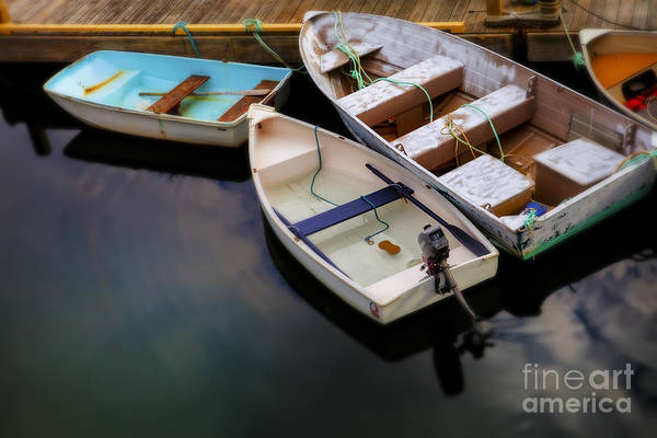 Dinghies Photograph - Rowboats by Diane Diederich