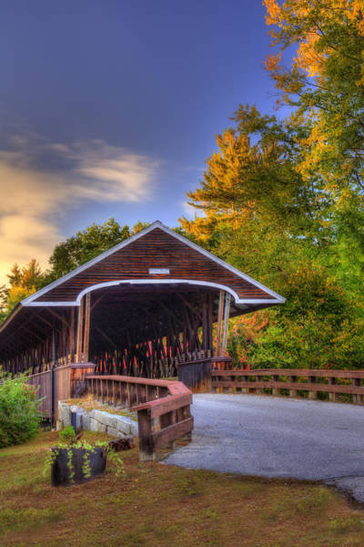 Photograph - Rowell Covered Bridge In Autumn by Joann Vitali