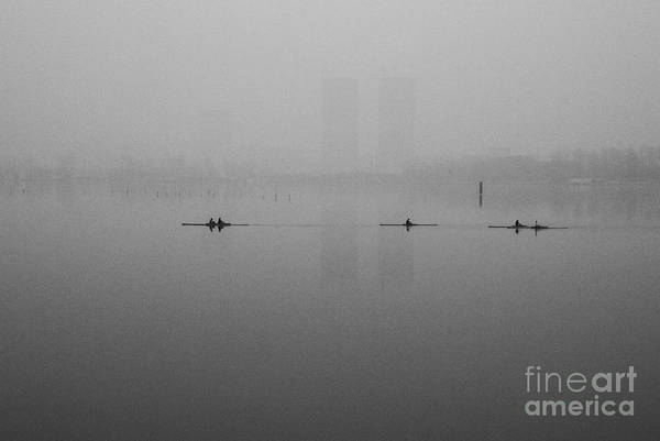Wall Art - Photograph - Rowers On The Lake by Dean Harte