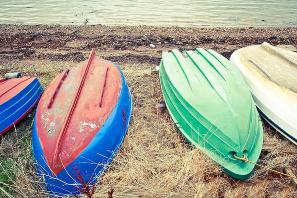 Dinghies Photograph - Rowing Boats by Tom Gowanlock
