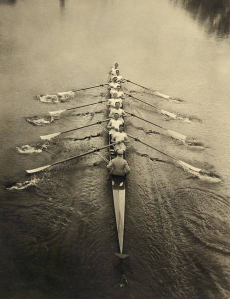 Wall Art - Photograph - Rowing Crew, Early 20th Century by Science Photo Library
