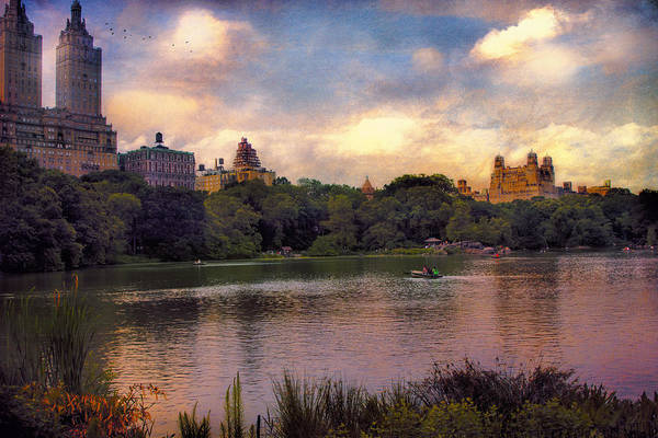 Rowing In Central Park Art Print