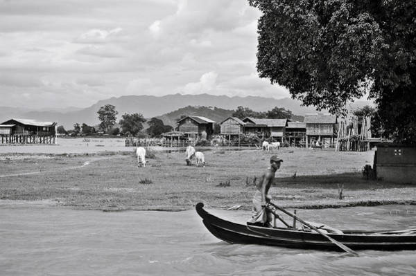 Photograph - Rowing In The Irrawaddy River by RicardMN Photography