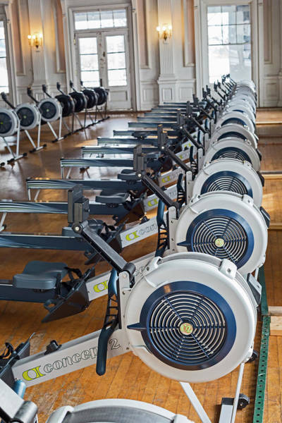 Belle Isle Photograph - Rowing Machines by Jim West/science Photo Library