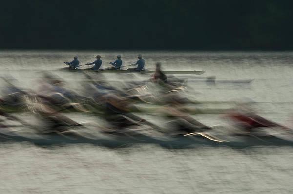 Row Wall Art - Photograph - Rowing by Milan Malovrh