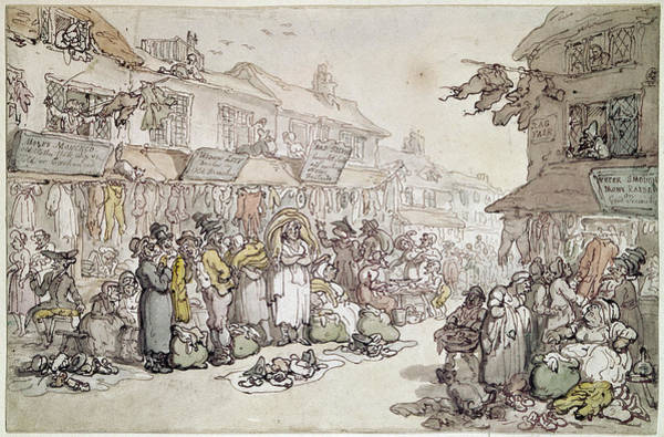 Rosemary Painting - Rowlandson Rag Fair, 1784 by Granger