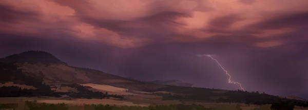 Rogue Valley Photograph - Roxy Ann Lightning by Mick Anderson