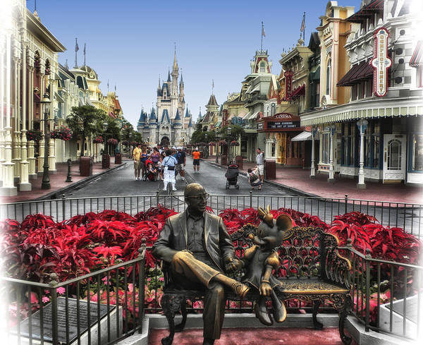 Mickey Mouse Photograph - Roy And Minnie Mouse Walt Disney World by Thomas Woolworth