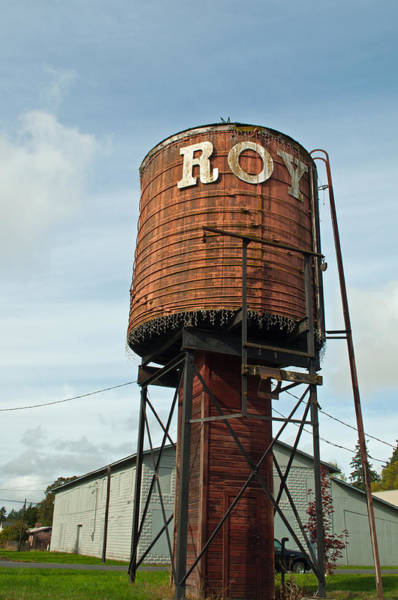Photograph - Roy Water Tower by Tikvah's Hope