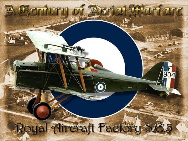 Se5 Digital Art - Royal Aircraft Factory S.e.5 by Mil Merchant