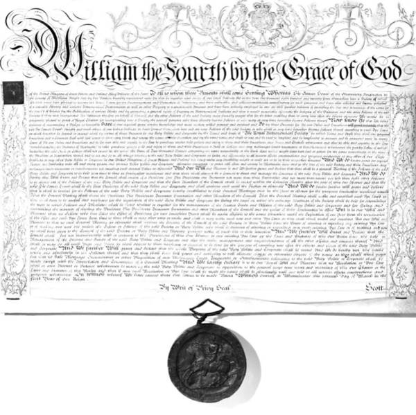 Privy Photograph - Royal Astronomical Society Charter by Royal Astronomical Society/science Photo Library