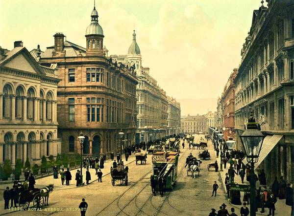 Photograph - Royal Avenue Belfast Northern Ireland 1898 by Movie Poster Prints