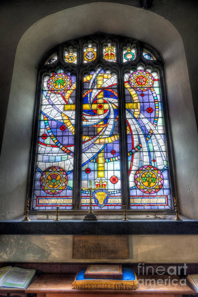 St. Marys Photograph - Royal British Legion Window by Adrian Evans