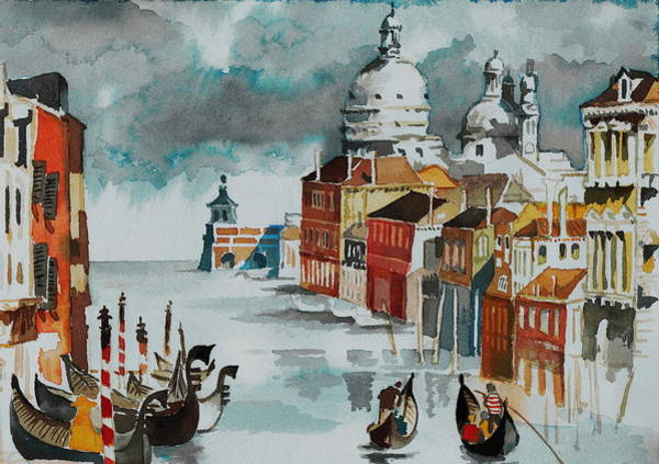 Painting - Grand Canal Venice  Italy by Val Byrne