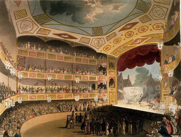 Balcony Drawing - Royal Circus From Ackermanns Repository by T. & Pugin, A.C. Rowlandson