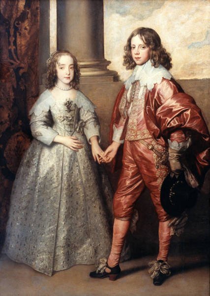 Adolescent Painting - Royal Couple, 1641 by Granger