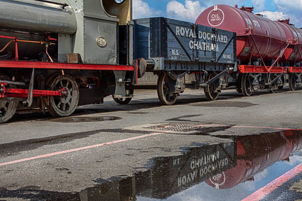 Carriage Photograph - Royal Dockyard Reflected by Nigel Jones