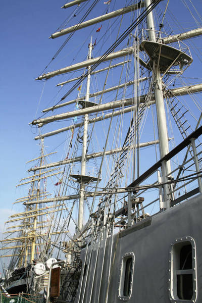Mast Photograph - Royal Dutch Navy Sailing Ship by Chris Martin-bahr/science Photo Library