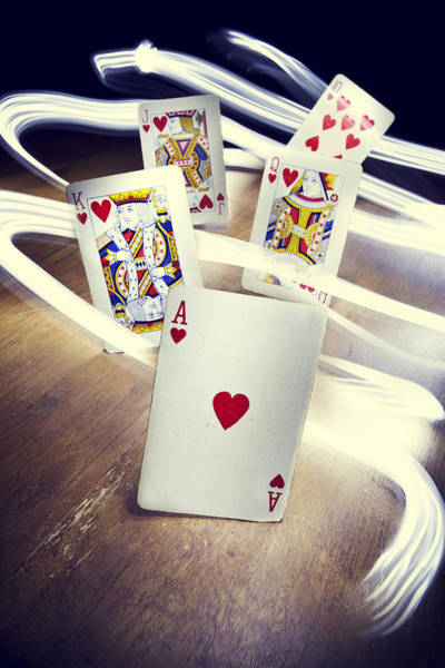 Cards Photograph - Royal Flush by Samuel Whitton