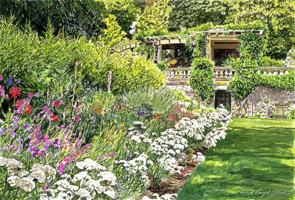 Painting - Royal  Hatley Gardens by David Lloyd Glover
