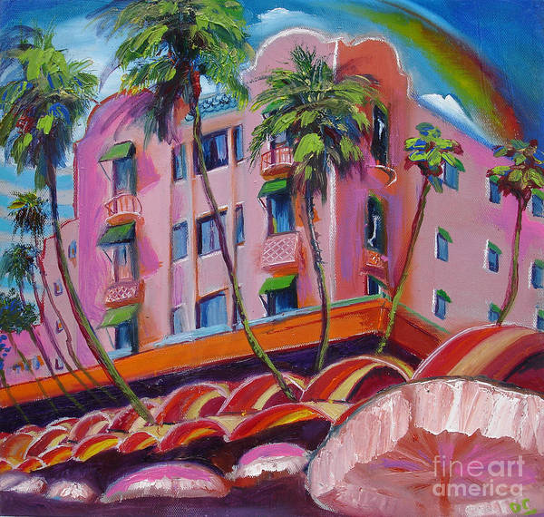 Royal Hawaiian Hotel Art Print by Donna Chaasadah