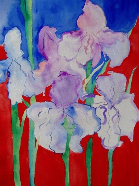Royal Iris Art Print by Phoenix Simpson