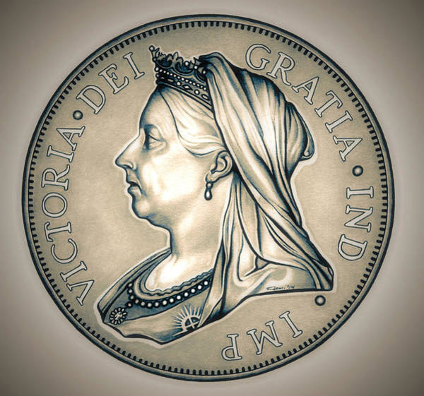 Drawing - Royal Queen Victoria by Fred Larucci