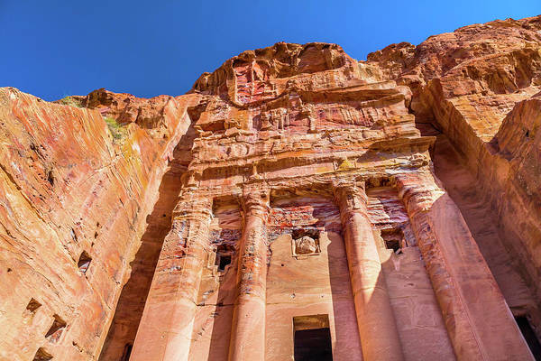 Wall Art - Photograph - Royal Rock Tomb Arch Petra Jordan by William Perry