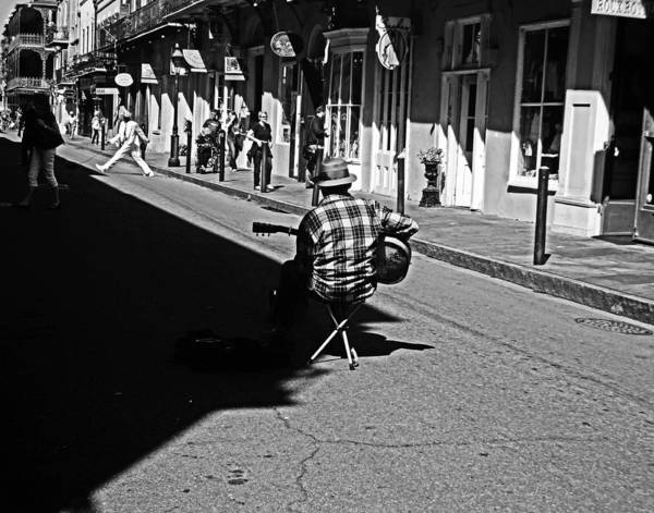 Photograph - Royal Street Busker by Louis Maistros
