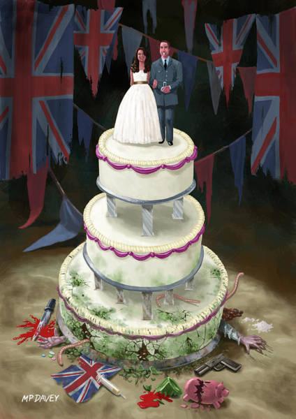 Digital Art - Royal Wedding 2011 Cake by Martin Davey