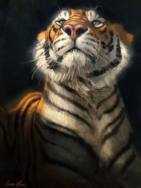 Tiger Digital Art - Royalty by Aaron Blaise