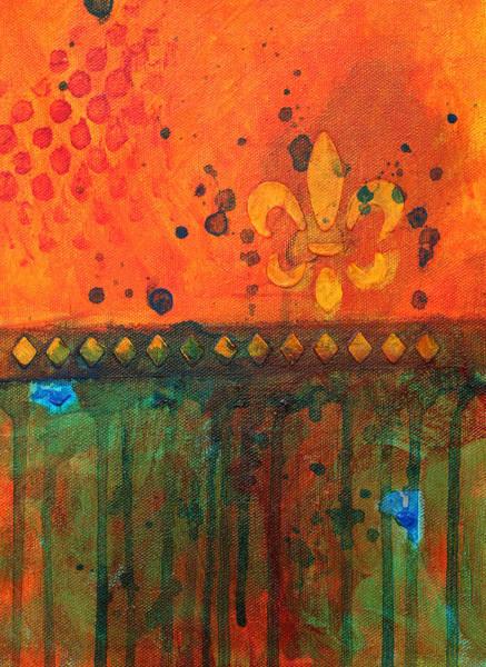 Linear Painting - Royalty by Nancy Merkle