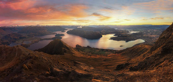 New Zealand Photograph - Roy's Peak - Panorama View by Yan Zhang