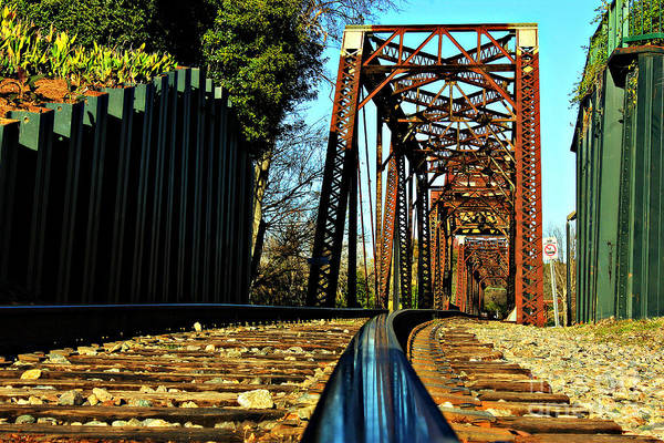Photograph - 6th Street Trestle Bridge Relections Augusta Georgia Savannah River Art by Reid Callaway