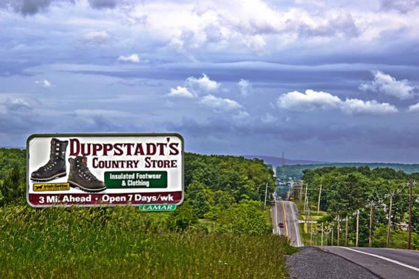 Somerset County Photograph - Rt 30 Duppstadt's Country Store Sign by Tom Gari Gallery-Three-Photography