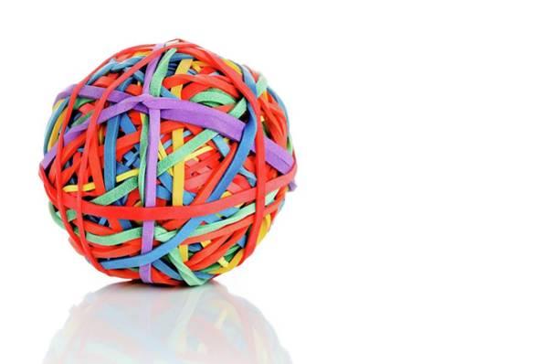 Wall Art - Photograph - Rubber Band Ball by Wladimir Bulgar/science Photo Library