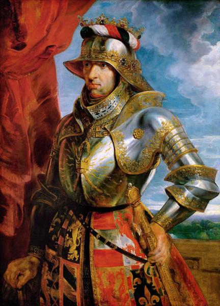 Wall Art - Painting - Rubens Maximilian I, 1618 by Granger